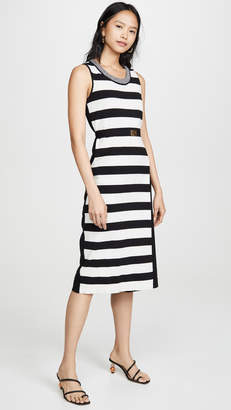 Tory Burch Pieced Stripe Tank Dress