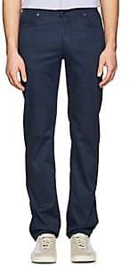 Marco Pescarolo Men's Stretch Cotton-Silk Five-Pocket Pants-Navy