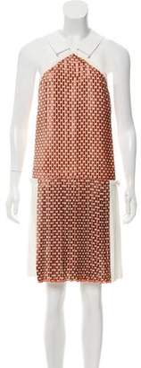 Victoria Beckham Cross-Neck Sleeveless Dress