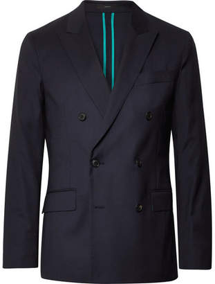 Paul Smith Midnight-Blue Soho Slim-Fit Double-Breasted Wool Suit Jacket