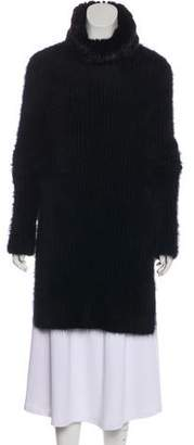 Fendi Mink-Trimmed Angora Sweater
