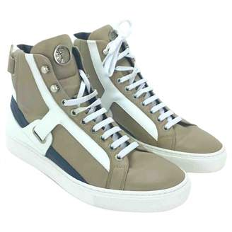 Versace Leather high trainers