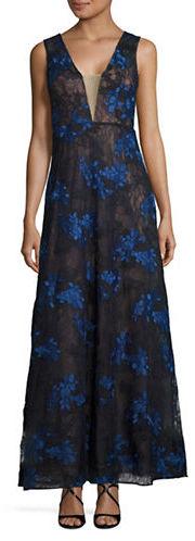 BCBGMAXAZRIABcbgmaxazria Embroidered Lace Gown