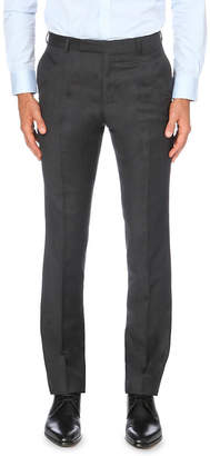 Gieves & Hawkes Tapered wool trousers