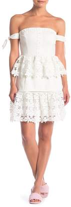 Endless Rose Off-the-Shoulder Crochet Lace Dress