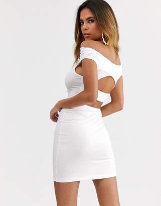 Bardot Asos Design ASOS DESIGN going out cut out back detail mini dress
