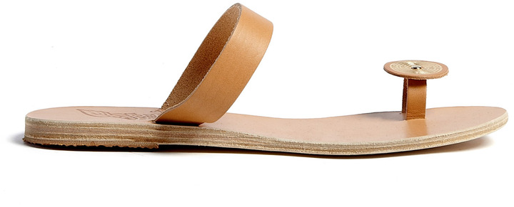 Ancient Greek Sandals Andromeda Gold Embossed Sandals