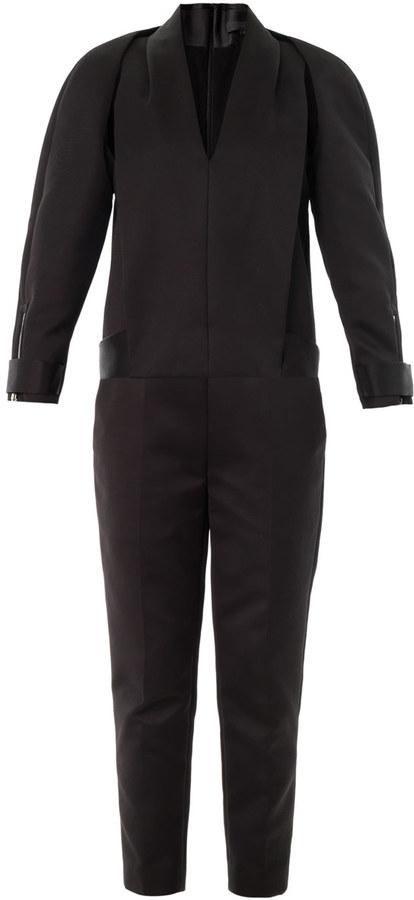 Alexander WangALEXANDER WANG Compact twill tuxedo jumpsuit