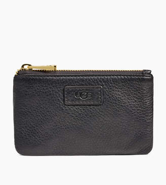 UGG Small Leather Zip Pouch