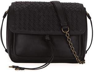 Bottega Veneta Medium Intrecciato Flap Tie-Front Shoulder Bag $2,150 thestylecure.com