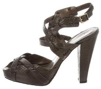 Calvin Klein Embossed Ankle Strap Sandals