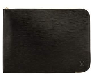 Louis Vuitton Noir Epi Poche Documents Briefcase (4042006)