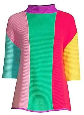 Victor Glemaud Victor Glemaud Women's Cashmere Colorblock Funnelneck Sweater