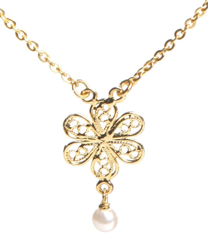 Lisa K Designs Baby Flower Choker in Gold : Lisa K Designs Women