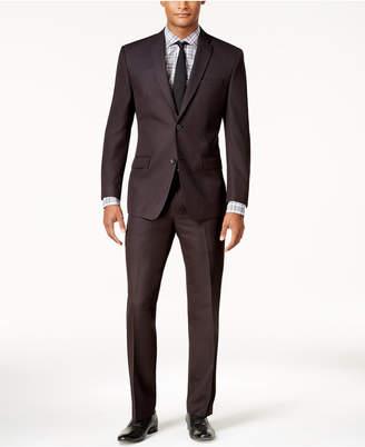 Andrew Marc Men's Classic-Fit Black Micro-Grid Suit