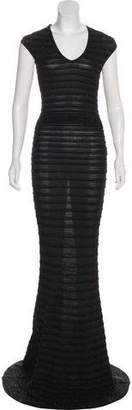 DSQUARED2 Metallic Knit Evening Dress