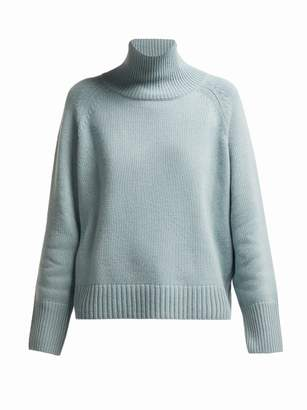 Nili Lotan Mariah Roll Neck Cashmere Sweater - Womens - Light Blue