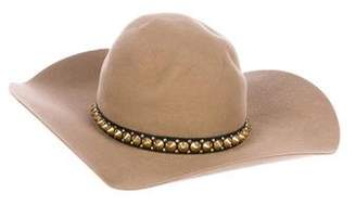 Gladys Tamez Studded Felt Velour Hat