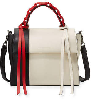Elena Ghisellini Angel Small Abstract Colorblock Top Handle Bag