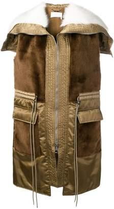 Chloé paneled sleeveless coat
