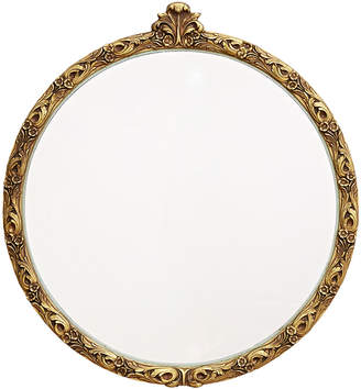Rejuvenation Round Wall Mirror w/ Ornate Gilt Gesso Frame