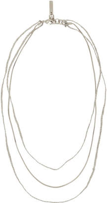 Acne Studios Silver Andre Necklace