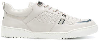 Bottega Veneta designer leather weave sneakers
