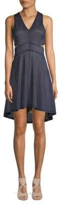 Ali & Jay Striped Cutout Dress