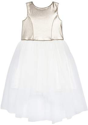 Zunie Metallic High\u002FLow Tulle Dress (Big Girls)
