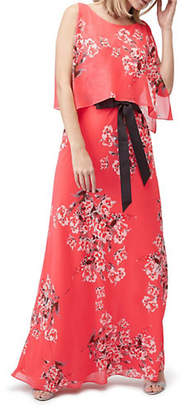 Jacques Vert Printed Belted Maxi Dress