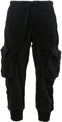 Greg Lauren BLACK KNIT/FLEECE LOUNGE PANT