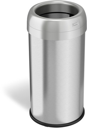 iTouchless Halo 16-gallon Dual-Deodorizer Round Fingerprint-Proof Stainless Steel Trash Can