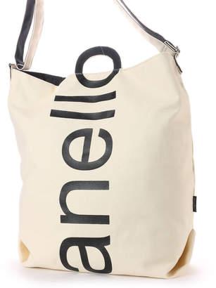 Anello (アネロ) - アネロ anello レディース トートバッグ コットンキャンバスロゴプリント2WAYトートバッグ AU-S0061