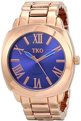 TKO ORLOGI Women's Big Navy Deep Face Rose Gold Boyfriend Oversized Watch