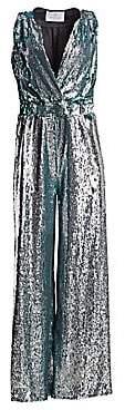 Carolina Ritzler Women's Sleeveless Sequin Jumpsuit