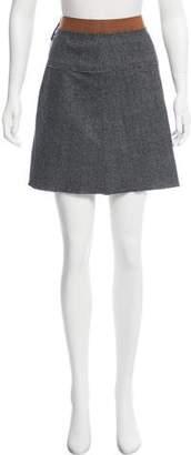 Dolce & Gabbana Wool Plaid Skirt