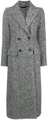 Ermanno Scervino melange double breasted coat