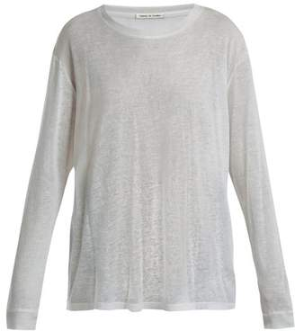 Frances De Lourdes - Marlon Round Neck Cashmere And Silk Blend T Shirt - Womens - Grey