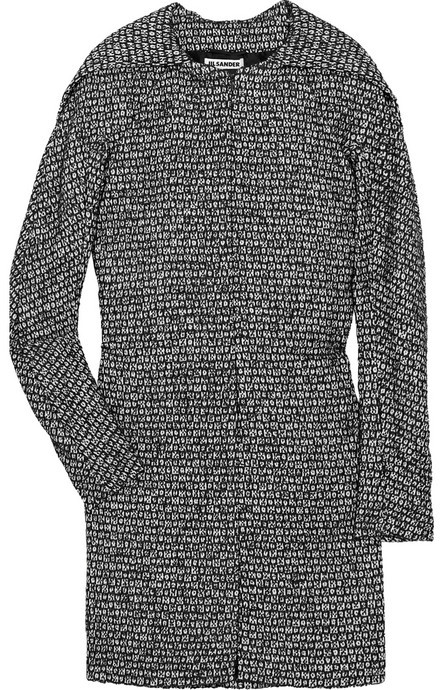 Jil Sander Burma textured woven cape coat