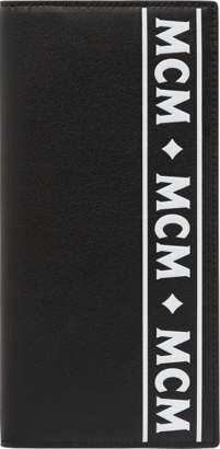 MCM Long Two Fold Wallet In Coburg Logo Stripe