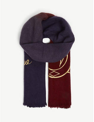 Vivienne Westwood Save The Ocean wool scarf
