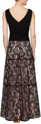 Ignite Ruched-Waist Lace Cocktail Dress