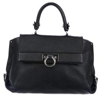 Salvatore Ferragamo Leather Sofia Satchel