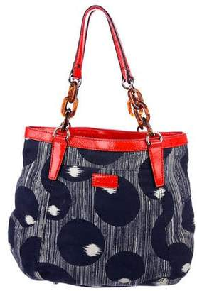 Milly Patent Leather-Trimmed Tote