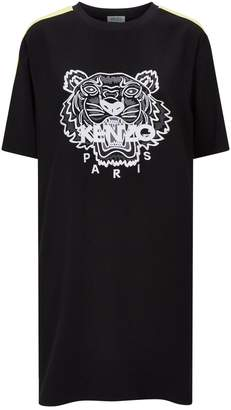 Kenzo Embroidered Tiger Icon T-Shirt Dress