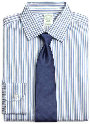 Brooks Brothers Milano Slim-Fit Dress Shirt, Heathered Twin Stripe