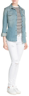 Juicy Couture Distressed Skinny Jeans $179 thestylecure.com