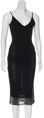 John Galliano Knit Sleeveless Dress