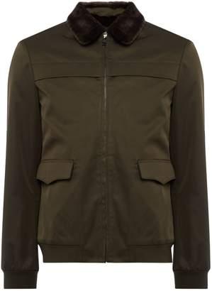 Linea Men's Northwood Faux Fur Collar A1 Bomber Jacket