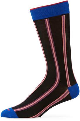 Duchamp Men's Striped Cotton Socks